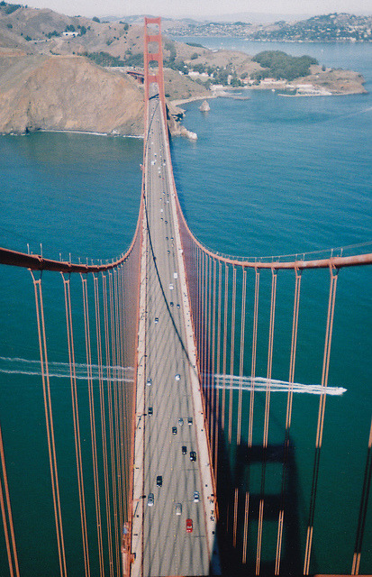 slaying:  Top of GG Bridge_0001_2 by T D Raher on Flickr.