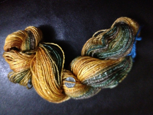 182 yds of pride. Spun n chain plied some damn fine merino tencel!