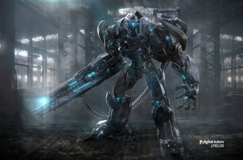 (via Concept Art World » Creating a Sci-Fi Robot Warrior in ZBrush with Justin Fields)