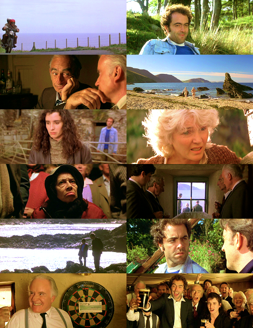 lindseycathryn:     Waking Ned Devine (1998)    I have recently become sadly aware of the fact that this movie isn't as widely-seen as I assumed, which I don't understand because it's fantastic. Like, one of my ten favorite movies of all time, fantastic. It's about two best friends, Jackie and Michael, who live in a tiny Irish town of 52 people and who discover that a winning lottery ticket has just been sold in their local shop.  With the help of Jackie's wife Annie (Fionnula Flanagan, aka Eloise Hawking), they attempt to figure out which one of the townsfolk is the winner.