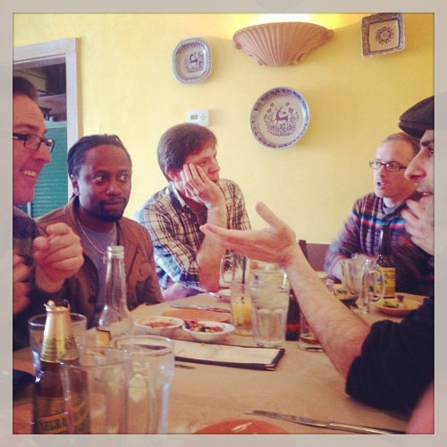 #Psych writers talking about writing. And mole tacos. #psychwritersfieldtrip #thankpsychitswednesday