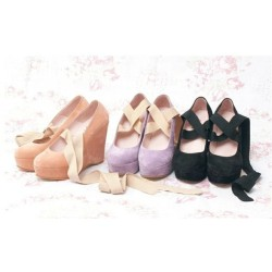 bombisbomb:  Katie Ribbon Wedges €79.95