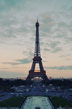 e-ndorphins:  eiffel tower, what a beauuuutiful sunset and the little car lights