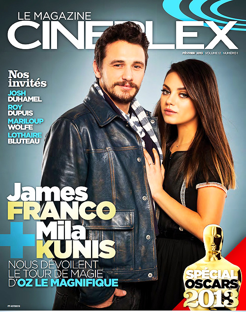 Mila Kunis and James Franco on the cover of the French version of Cineplex Magazine. (February 2013 Issue)
