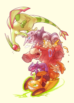 Team Citrus My Pokemon team from Sinnoh, led by Trainer Orange. Consists of: Rotom (Citrus) Sableye (Pyrite) Breloom (Gauntlet) Camerupt (Oahu) Aggron (Anvil) Flygon (Mistletoe) I played Pokemon Platinum with my friends when it came out, but I never drew my team before. So here they are :D