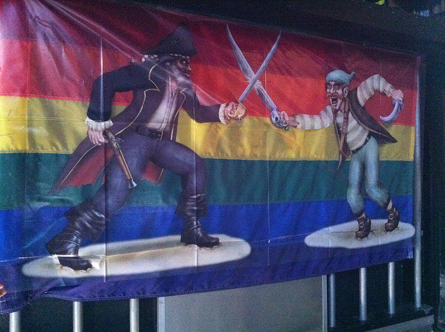 Gay Pirate Fight by directorbear on Flickr.