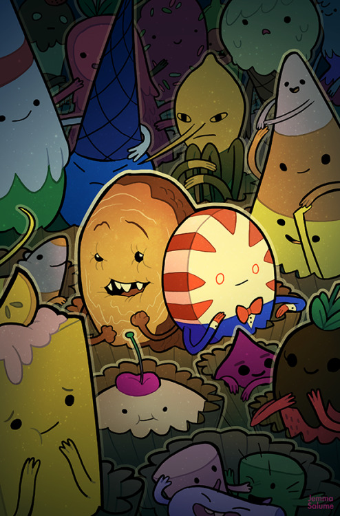 adventuretime:  Candy Capers #2 comic book covers are shown. Great work, Jemma. oxboxer:  Looks like the alternate covers for Candy Capers #2 are out, so I can finally show this off! Peppermint Butler is one of my favorite characters ;o;   squee!