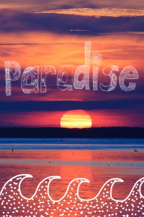 #paradise #sunset #beautiful #beach #view