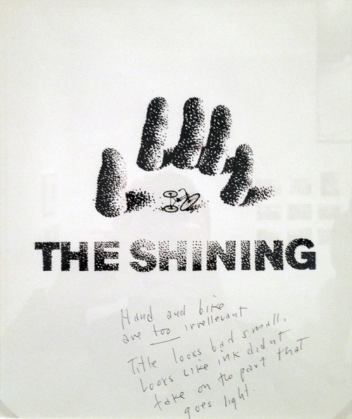Saul Bass Sketches for Stanley Kubrick's The Shining Posters.