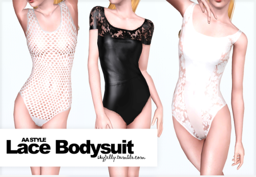 skyjelly:  LACE BODYSUIT .sim3pack and .package include. hope you like it :) DONWLOAD mesh by EA.