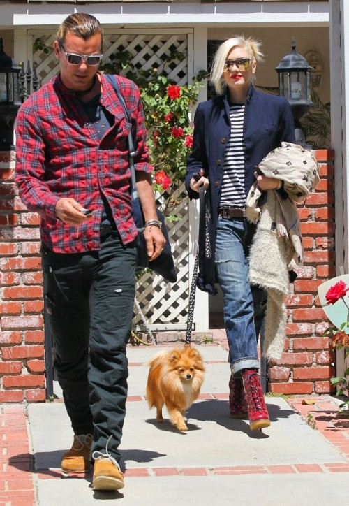 Gwen Stefani and Gavin Rossdale out and about in Van Nuys, California, 16th April 2013.