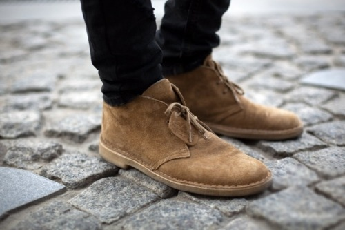 CLARKS. Most definitely about to acquire a pair.
