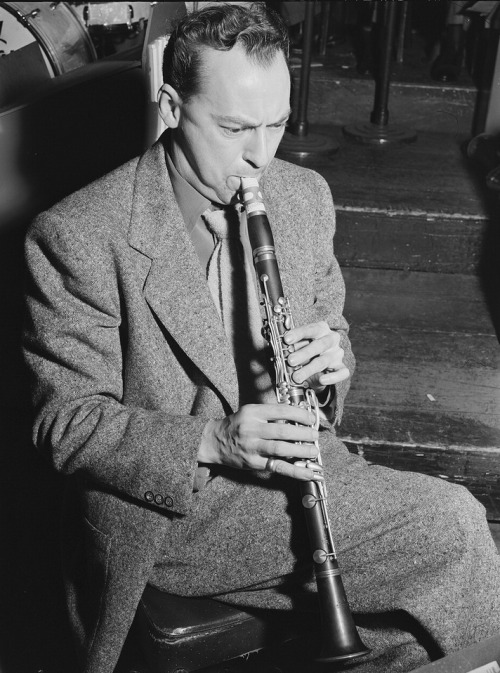 "nprmusic:  Woody Herman was a soulful reedman, an amazing talent scout for decades and a bandleader of one of the country's most popular acts. Born in 1913, Herman led ""Thundering Herds"" that were both big draws and well-respected by the likes of Igor Stravinsky. For his 100th birthday, here are five recordings which still sound fresh today. Photo: William Gottlieb/Library of Congress"