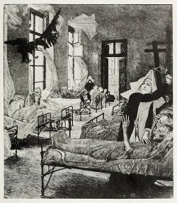 danaeiou:  Max Klinger from 1919  The plague