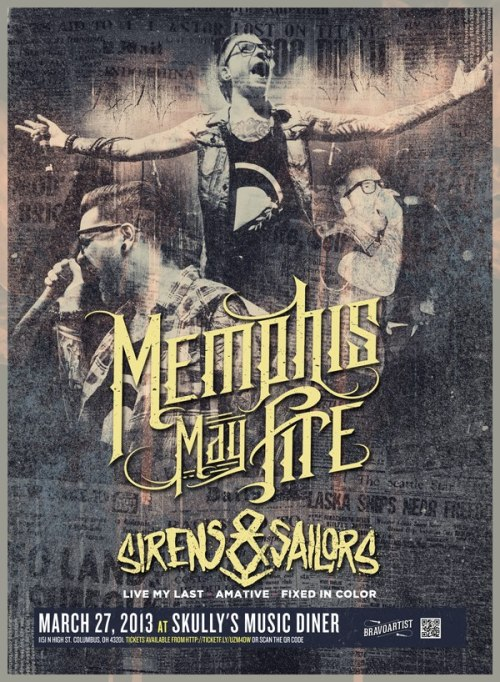 "If you're in the Ohio area, come out to this Memphis May Fire show TONIGHT in Columbus and see a special surprise set from AFFIANCE! Could there be a ""Bohemian"" duet? Maaaaaaybe. Purchase tickets here: http://ticketf.ly/UzM4dw"