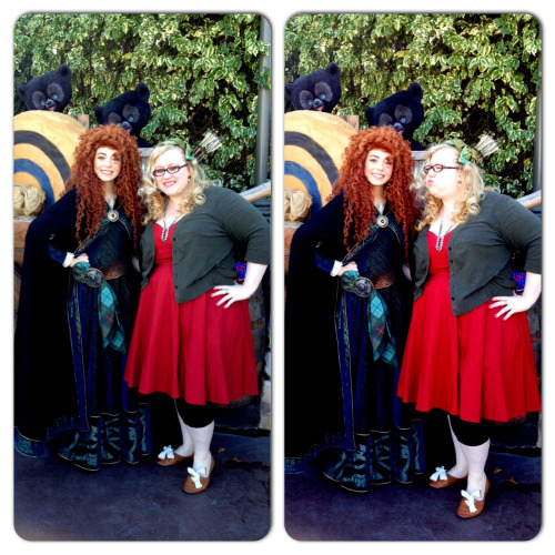 W/ Merida on Dapper Day