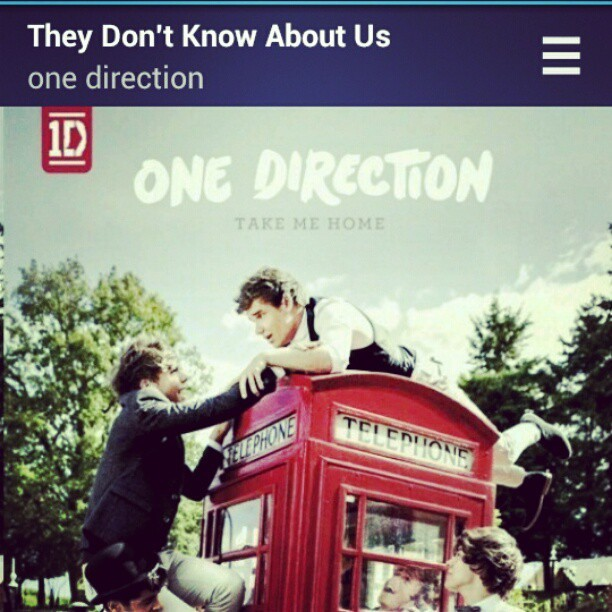 My favorite song!! :) #OneDirection #TheyDon'tKnowAboutUs #TakeMeHome
