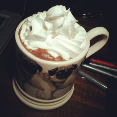 jjfanshawe:  … And then some of this!  That is a simply beautiful cup of hot chocolate.
