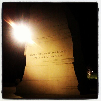 Finally made it to the MLK Memorial on the coldest day of life.  (at Martin Luther King, Jr. Memorial)