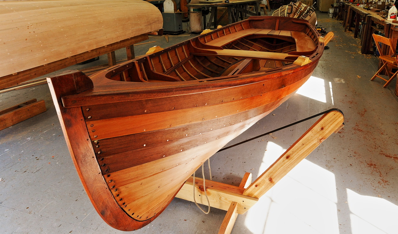 boatporn:  Acorn dinghy at the Northwest School of Wooden Boatbuilding