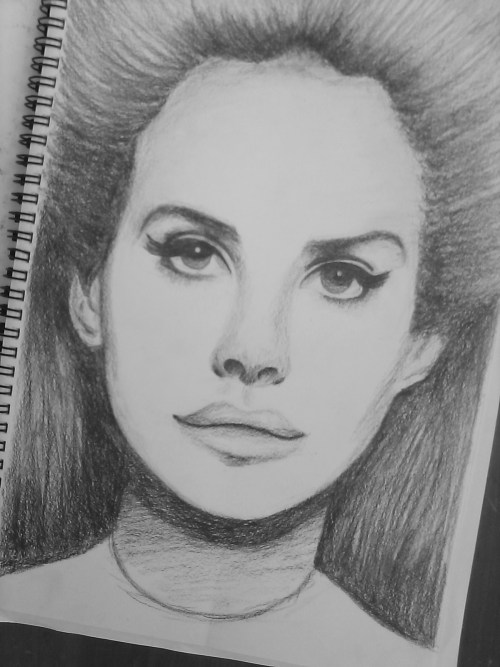u-n-p-e-r-f-e-c-t:  my drawing of the queen