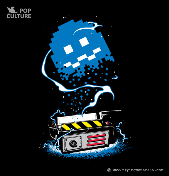 Pac-Man x Ghostbusters Mashup by FlyingMouse365