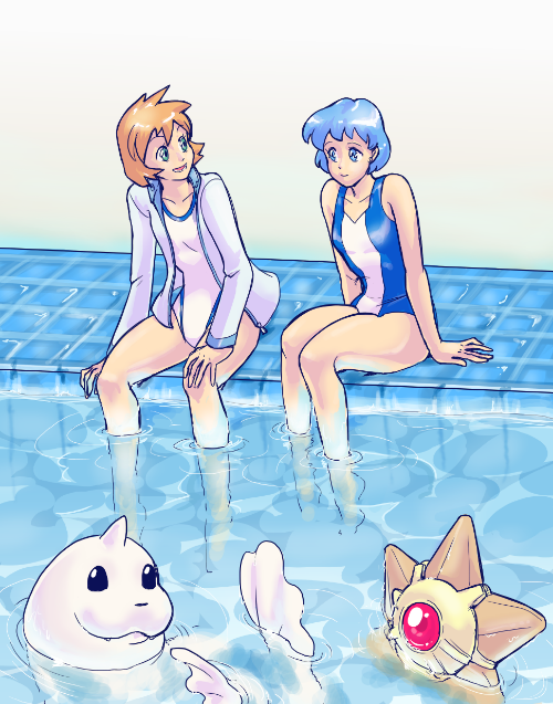 Commission for TheMarauding, who thought Ami and Misty would get along swimmingly (no pun intended). I tend to agree! This was heaps of fun to do. Commission Information