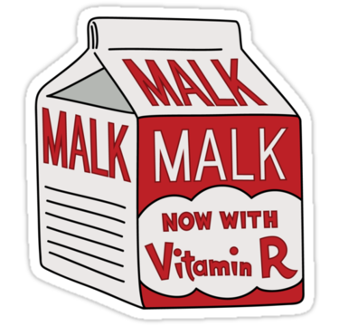 I always drink plenty of… malk?
