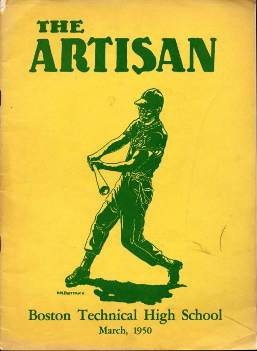 The Artisan Cover, 1950 March, Boston Technical High School Records Collection #420.015, City of Boston Archives.