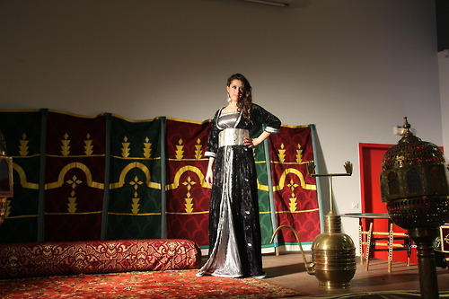 Algerian & tunisian beauty in morrocan dress by Naima Aoujil & me @ festival des nuits d'orient