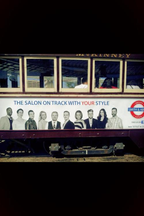 Saw my work on the trolley today. Always fun to stumble across something I've shot. SMILES :)