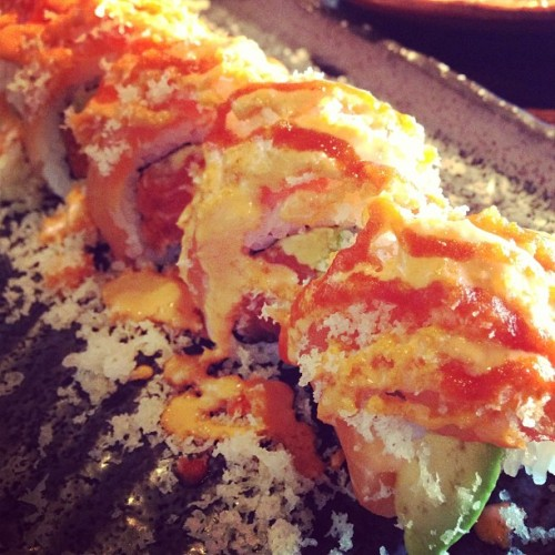 Double Salmon Roll (at Naru Sushi Japanese Restaurant)