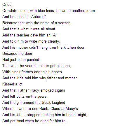 "im-chuck-bass-xoxo:  ""To Santa Claus and Little Sisters"" is the title of this poem. It was written in the 1960s by an  Anonymous 15 year old boy, 2 years before he committed suicide. Steven Chbosky (The perks of being a wallflower) used this poem in the Perks Of Being A Wallflower, but had differences. This poem is also in English curriculum for a lot of high schools. It is a very powerful poem, and although it is very blunt, there is so much more meaning and depth behind each line."