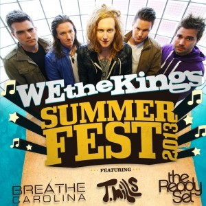 Just Announced!! We The Kings, Breathe Carolina, T. Mills, The Ready Set @ Jannus Live on Saturday, July 6th, 2013. Doors 7:00 p.m. | $20.00  Tickets on sale this Friady, May 24th. Get them via Daddy Kool or Ticketmaster!