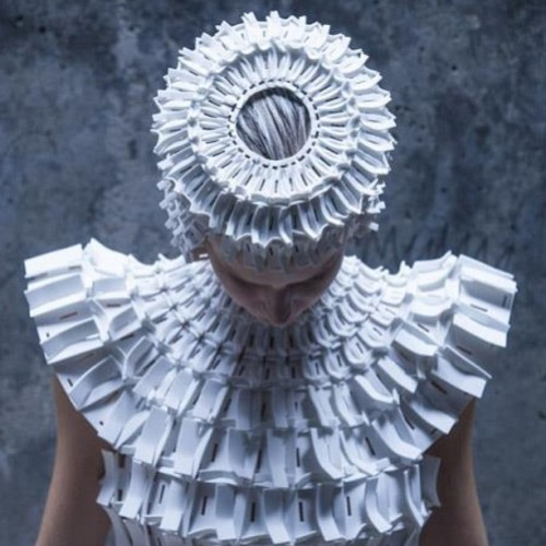 Garments made from interlocking foam pieces #beautiful #design via @dezeen #dezeen