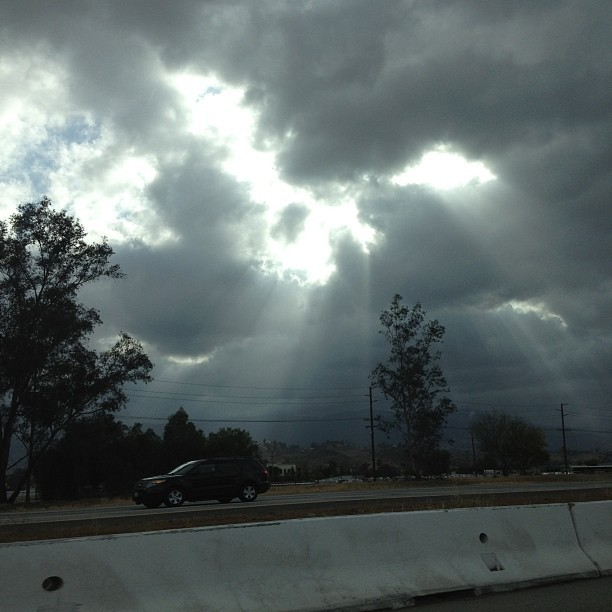 Heading back to LA as God watches over us on the road!