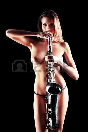 (via Art Portrait Of A Beautiful Naked Woman With Saxophone. Royalty Free Stock Photo, Pictures, Images And Stock Photography. Image 18435832.)