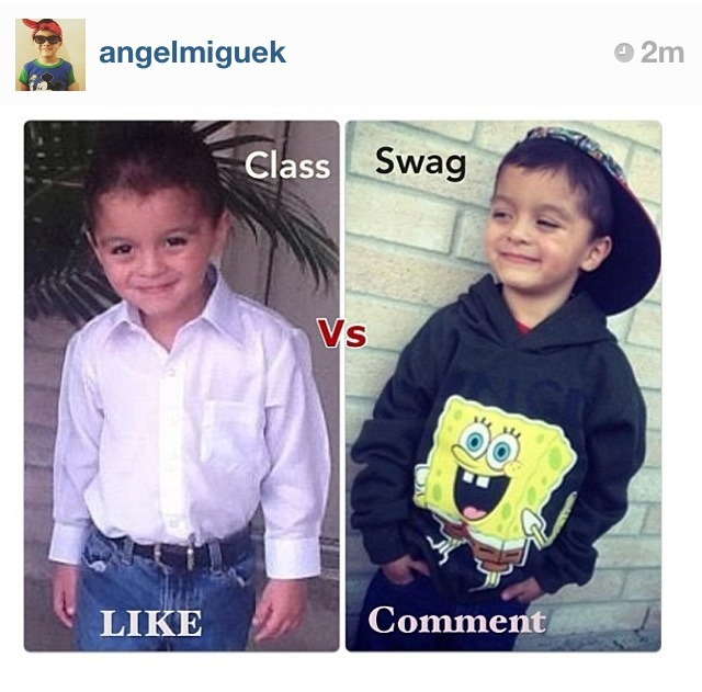 nicklugo:  Debate of the century  Why a 4 year old has his own social media pages? I agree