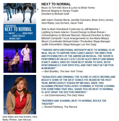 next to normal(from 2nd Stage Theatre's archives)