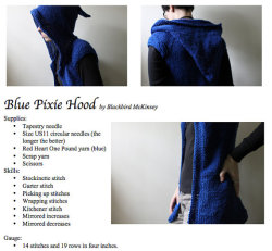 blackbirdparlor:  Blue Pixie - PDF PATTERN