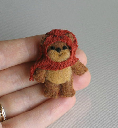 Ewoks are my no means my favorite creatures but look how freaking cute this plush toy is! Get him on Etsy!