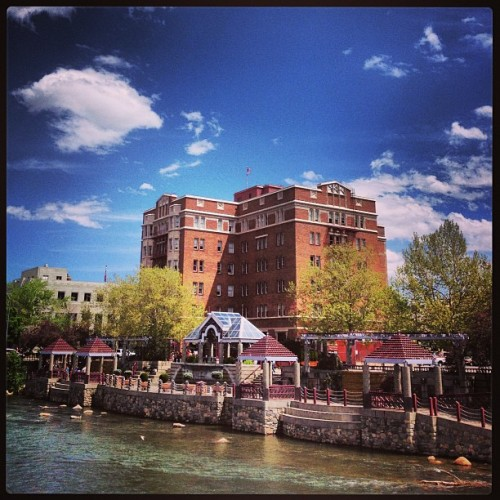 The historic Riverside Artist Lofts in downtown #Reno. #Nevada #nvmag (at Riverwalk) Read more about the Artist Lofts here: http://nevadamagazine.com/issues/read/home_is_where_the_art_is/