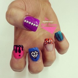 The other hand for @djtigerlily hope you had a great night! #nailart #melbournenailart #radnailsisters #superradnailsisters #studnails #djtigerlily