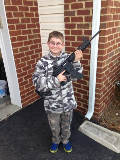"The young man in the photo is the 11-yr-old son of Shawn Moore. The gun is a .22 rifle, a copy of the AR-15, but a 22 caliber. The photo was posted on Facebook by a proud father. That Facebook posting apparently triggered an anonymous call to New Jersey's Department of Youth and Family Services (DYFS). On Friday night, March 15th, two representatives from the state's social services office (along with four local police officers) came to the Moore home and demanded to see the family's firearms. According to Moore's lawyer, Evan Nappen (an attorney with considerable expertise in NJ's very strict gun laws), the situation was ""outrageous."" Here's what Moore alleges on the Delaware open carry forum: NJ's Department of Youth and Family Services (DYFS) came to his home, accompanied by police officers. They claimed to be responding to a call about a photo of a young boy holding a firearm. (photo above) Without a search warrant, DYFS demanded entry into Moore's home and access to all of his firearms. Moore was not initially there, but his wife called him. With his lawyer listening to the exchange on the phone with police and DFYS, Moore denied entry to his home and access to his safe where he stores his guns. When Moore requested the name of the DFYS representative, she refused to give it to him. After threatening to ""take my kids,"" the police and Family Services worker left — ""empty handed and seeing nothing."" In an exclusive interview with TheBlaze, Mr. Nappen — the attorney who was listening to the entire incident via Moore's speaker phone — added more details:  The DYFS worker repeatedly demanded access to the house and for Moore to open his safe where the firearms were stored. She said that the guns should be catalogued and checked to make certain they were ""properly registered."" (NJ does not require registration, it is voluntary.) The four police officers acted professionally, they were there at the request of DYFS. The worker refused to identify herself. Mr. Moore demanded that she giver her name. She refused and ran away. As of Tuesday morning, Mr. Nappen believes that DYFS is still pushing for an inspection, ""which is not happening."" Mr. Nappen also shared few very important facts about this case. For instance, Shawn Moore holds three very significant firearms designations: NRA Certified Firearms Instructor – One of the toughest certifications to attain, requiring skills with the weapons as well as teaching. NRA Certified Range Safety Instructor NJ State Certified Firearms Hunting Instructor Shawn's son is also someone who has been certified by the state of New Jersey. In order for a person under the age of 18 to go hunting in New Jersey, they must be accompanied by a parent or adult supervisor, and they must also pass a state firearms hunter safety test. The young Mr. Moore passed the test and his father was NOT his instructor."
