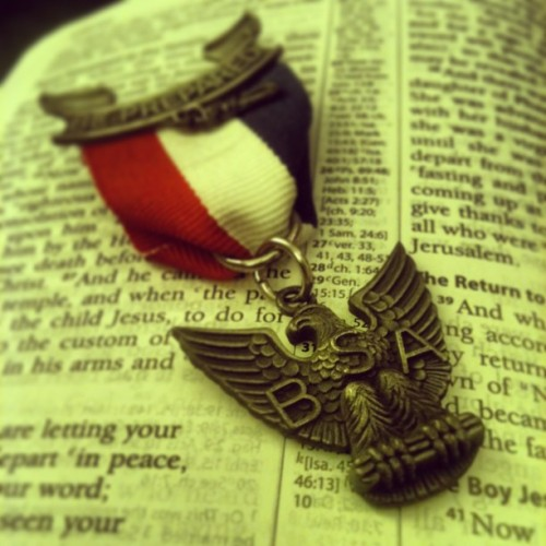 Eagle Scouts depend on the word to!! #eaglescout #boyscouts #eagle #rank #bible