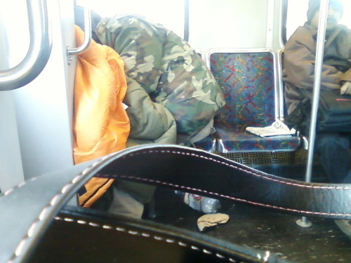 Camping on the subway