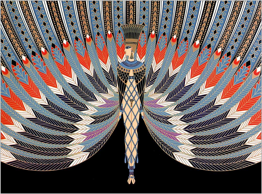 numanbaba:  The Nile by Erte (Romain de Tirtoff), costume design