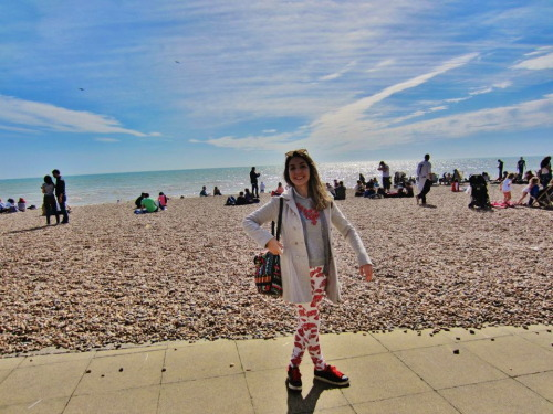 here's a pic of me in sunny Brighton last weekend I'm now in Rome and having the most beautiful morning back ever. My mum, stepdad and I had breakfast in our garden which is now super sunny and covered in flowers and talked about the plans for my Paris house, which I'm going to see after tomorrow and it sounds so perfect I've actually cried from joy I haven't felt this happy in a long time and the near future is looking bright :-)