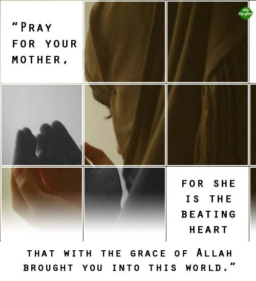 islamic-quotes:  Mother Submitted by AkuMuslim  I love u mom…:)