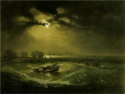 thesavagesgallery:  William Turner (1775-1851) Fishermen at Sea, c.1976.  Tate Gallery, London, UK.